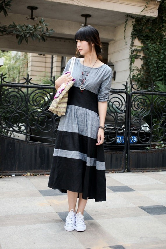 double color light gray sundress(more colour and size choice)