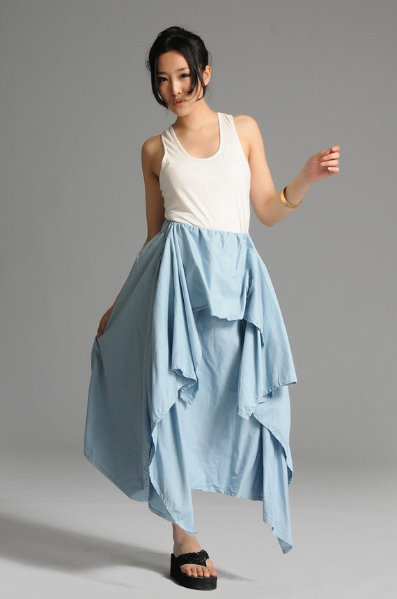 Sky blue cute anomalous skirt(more colour and size choice) -D56