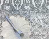 SALE LAST ONE Tablecloth Hand block printed Peacock Raja in size small
