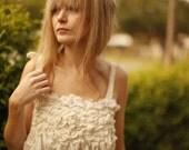 RESERVED- Unconventional Wedding Dress. Woodland wedding dress. Whimsical dress.
