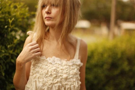MADE to ORDER -Unconventional Wedding Dress. Woodland wedding dress. Whimsical dress.