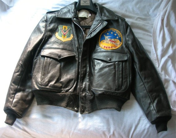 Clearance 10% OFF - Schott Flight Jacket with Northeast Air Command and 321 Bombardment Patches