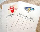 2012 Printable Calendar PDF Format