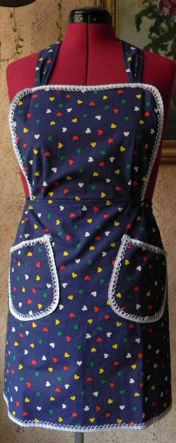 Many many hearties in blue apron