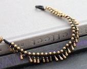 Teardrop brass Woven Bracelet