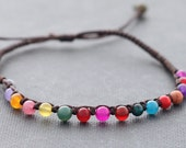 Candy Dyed Jade Stone Adjustable Bracelet