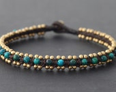 Africa Turquoise Woven Anklet