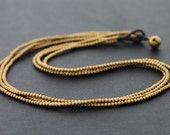 3 Strand Simple Brass Necklace