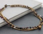 Fancy Jasper Chain Layer Necklace