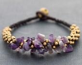 Amethyst Bunch Bracelet