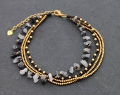 Black Rutilated Quartz Layer Anklet
