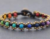 Mini Daisy Rainbow Bracelet