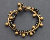 Teardrop Chain Onyx Bracelet