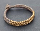 Muslin Brass Beaded Bracelet