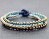 Nautical Brass Beaded Bracelet