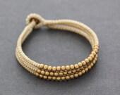 Ivory Brass 3 Strand Bracelet
