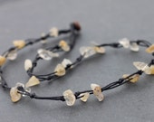 Citrine Knotted necklace