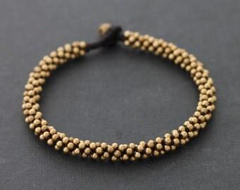 Round Brass  Bead Anklet