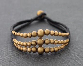 Rhythm Brass Bead Bracelet