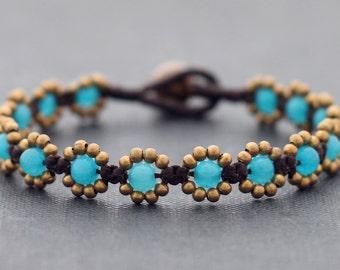 Light Blue Daisy Bracelet