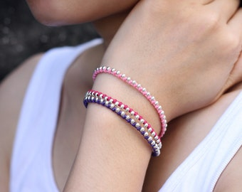 Beaded Bracelets Woven Strand Sweet Love