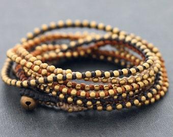 Earth Tone Stud Wrap Bracelet