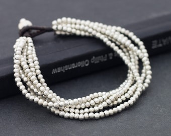 Multi 6 Strand Silver Bracelet