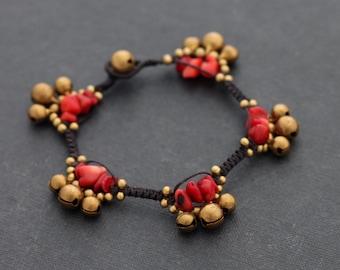 Coral Gypsy Bracelet
