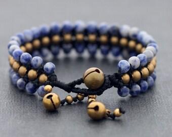 Sodalite Beaded Band Bracelet