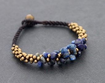 Lapis Bunch Bracelet