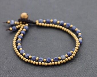 Sodalite Basic Round Bracelet