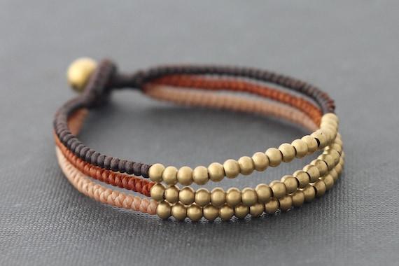 Three Colors Earth Tone Woven Bracelet