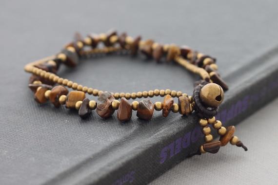 Double Strand Brass Tiger Eye Bracelet