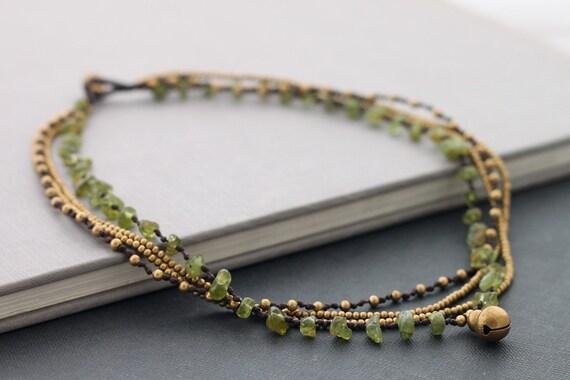 Peridot Chain Layer Necklace
