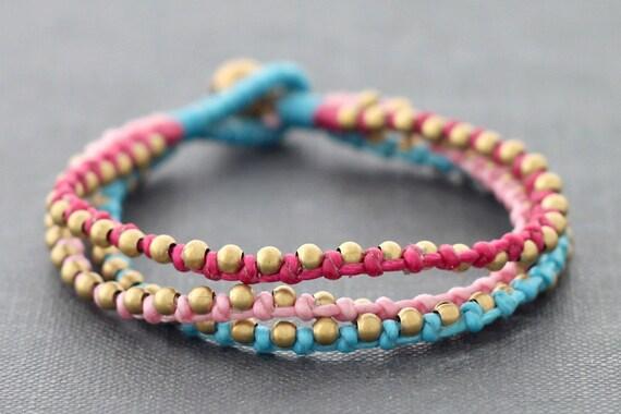 Berry 3 Strand Braided Bracelet