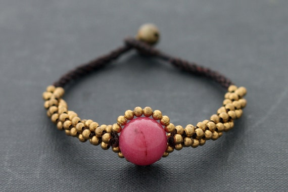 Cherry Quartz Saturn Bracelet