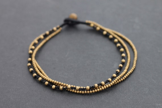 Multi Strand Brass Knotted Anklet