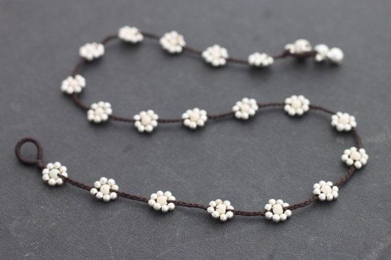 Daisy Howlite Silver  Necklace
