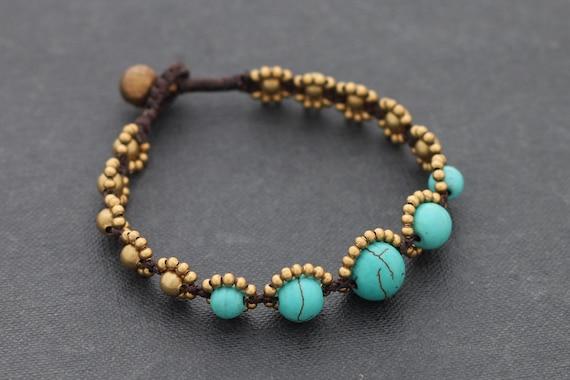 Turquoise Rhythm Beaded Bracelet