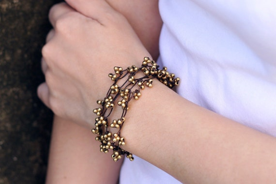 Free Form Brass Woven Bracelet