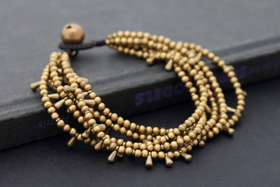 Water Drop Layer Brass Bracelet