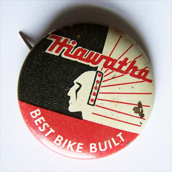 Vintage Hiawatha Bike Pin