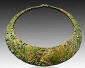 Jade memories polymer clay signature bib neklace