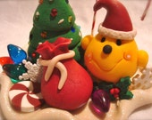 SANTA Christmas PARKER - Polymer Clay Character Figurine - Limited Edition