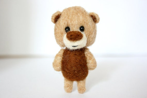 Brown and beige pocket bear
