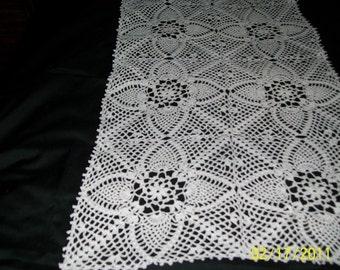 Handmade crochet runner-new