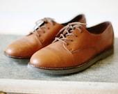 Vintage 1980s ROCKPORT Honey Leather Shoes 8.5