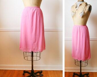 Vintage 1960s Vanity Fair Pink TULIP Slip Skirt xs/s
