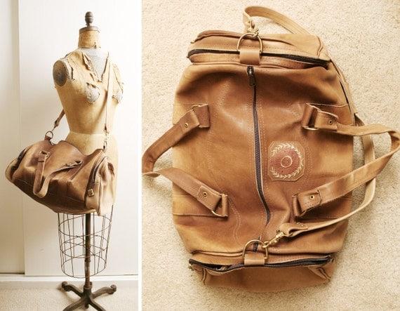 Vintage LEGACY Leather Weekender Duffle Travel Bag