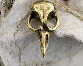 Bird Skull Necklace Bellatrix  18k gold plated made in NYC